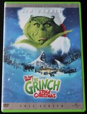 How the Grinch Stole Christmas Dvd Full Screen Kids Children Family Jim Carrey