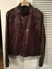 Gucci Men's Motto Jacket. Brown Leather. Size 52.