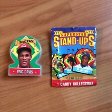 1991 Topps 40th Anniversary Stand Ups Candy Collectible Eric Davis #10. Clear