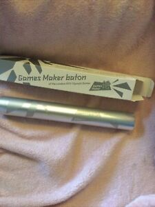 2012 OLYMPIC GAMES MAKER SOUVENIR RELAY BATON IN ORIGINAL BOX WITH CERTIFICATE