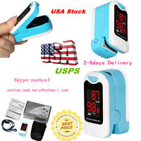 Fingertip Pulse Oximeter Blood Oxygen Saturation SPO2 PR Monitor Case + Rope