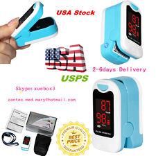 LED Fingertip Pulse Oximeter Blood Oxygen Saturation SPO2 PR Monitor Case + Rope
