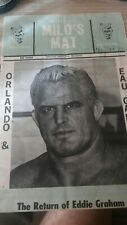 Rare wrestling program 1970 NWA WWF vintage Graham Milos Mat Roop Brisco Kiniski