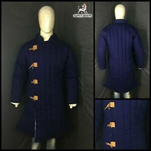 New Dark Blue Color Gambeson Padded Armor Costume
