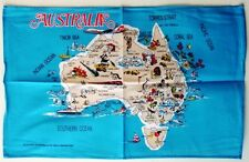 Tea Towel with Map of Australia - 100% Cotton
