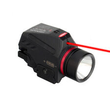 Tactical Combo Red Laser Sight Led Flashlight Fit 20mm Rail Pistol-Rifle Mount