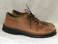 Birkenstock Brown Leather Shoes Men's Size US 11 EUR 44 Laces Made in Germany