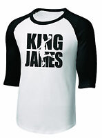 New Men's or Youth Lebron KING JAMES 3/4 Sleeve T-Shirt Tee Cleveland Cavaliers