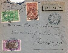 Lettre Madagascar Tananarive Bleu pour Paris 1935 Cover