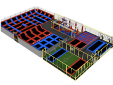 12,000 sqft Commercial Trampoline Park Ninja Course Soccer Turnkey We Finance