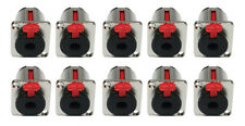 "10 x JACK Silver 6.3mm 1/4"" Chassis Panel Mount Socket Audio Studio DJ 10pk"