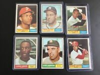 1961 Topps Baseball Lot of 6  Cards Mid Grade + T Gonzalez, more