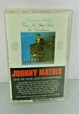 Johnny Mathis Give Me Your Love for Christmas Cassette Tape