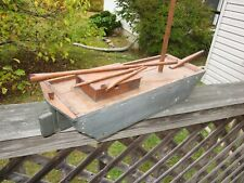 primitive homemade canal pond boat barge skiff wooden