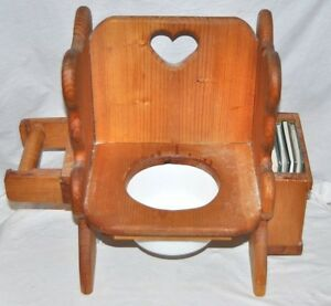 Baby Childs Heart and Teddy Bear Design Wooden Toilet Potty Training w/ Books