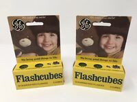 Vintage GE Flashcubes - 2 Sets Of 3 Cubes New in Original Box! Sealed NOS NIB