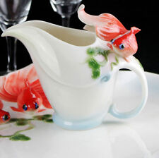 Ceramic Red Goldfish Only One Creamer Milk Container Jug