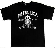 METALLICA Whiskey In The Jar T-shirt Heavy Metal Tee Adult  Black New