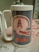 Vintage NFL Houston Oilers 1976 Thermo Serv Plastic Mug luv ya blue bum philips