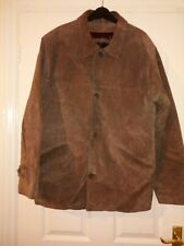 Ciro Citterio Real Suede Leather Brown Jacket Size M