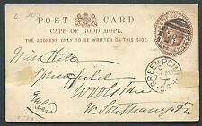 """CAPE OF GOOD HOPE: (12197) GREEN POINT """"287"""" cancel/post card"""
