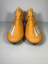 ADIDAS ADIZERO ( YELLOW/BLACK/WHITE ) FOOTBALL CLEATS SIZE 12.5 ( EH1314 )