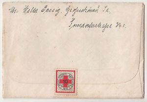 Feldpost Brief Vignette Kreuz-Pfennig-Sammlung 1914  an Grenadier 1918 ! (A2054
