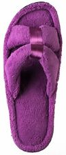 Isotoner SIGNATURE Micro-Terry Satin Slide Beverly Rock Woman's SPA Slipper S-XL