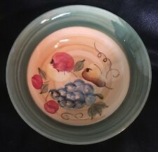 """Tabletops Unlimited Orchard Hand Painted Collection 6 1/2"""" Cereal Bowls Set Of 4"""