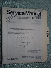 Technics rs-t933r service manual original repair book stereo tape deck 14 pages