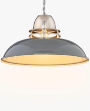 John Lewis Carmine pewter copper pendant ceiling lamp shade metal silver