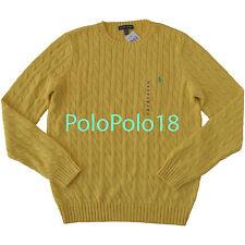 New Ralph Lauren Women Crewneck Cable Sweater Pony M L XL