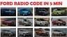 FORD RADIO UNLOCK CODE  V & M SERIAL-FOCUS-FIESTA-KA-MONDEO-TRANSIT-C-MAX-FUSION