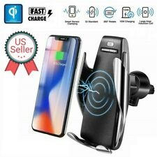 10W 360° Rotation Wireless Automatic Sensor Car Phone Holder Fast Charger 2 in 1
