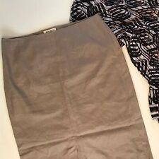 Kaliko 16 - Long Linen Skirt Sand High Front Split - Summer Casual Cream Wedding