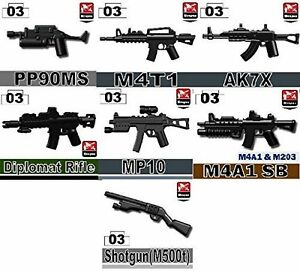 Rifle Pack of Army weapons designed for LEGO® minifigures P3