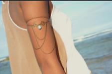 Women Arm Slave Harness Tassel Chain Upper Cuff Armband Armlet Bracelet Bangle