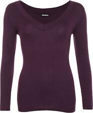 Long Sleeve V Neck Regular Tops & Shirts for Women