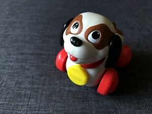 1996 McDonalds Happy Meal Under 3 Toy Fisher Price Dog Puppy Rolling Toy