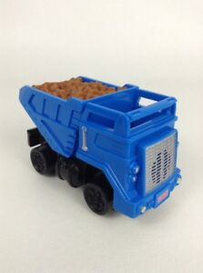 Fisher Price Geotrax Electronic Blue Push Dump Truck with Sounds Toy Tested