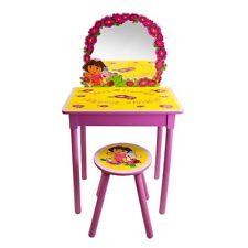 Dora the Explorer Girls Pink Vanity Set With Stool Kids Furniture