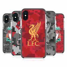 LIVERPOOL FC DIGITAL CAMOUFLAGE BLACK SHOCKPROOF BUMPER CASE FOR iPHONE PHONES