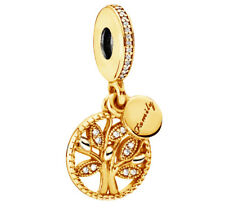 Genuine Pandora Family Heritage Hanging Charm Heavily 18K Gold Plated 791728CZ