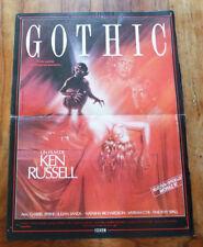 GOTHIC - Ken RUSSELL - Affiche Cinéma