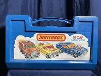 Matchbox Lesney 18 Car Carry Case Vintage 1976 +18 Matchbox & Hot Wheels Cars