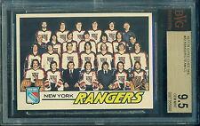BVG BGS 9.5 1977 78 OPC #82 NEW YORK RANGERS TEAM CHECKLIST GEM MINT!!