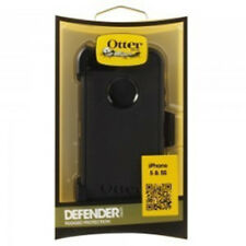 Otterbox Defender Series Iphone 5S Black Case With Holster Clip 100% Genuine