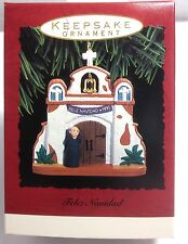 Hallmark Feliz Navidad Mission Bell1993 Keepsake Ornament Christmas Nib!