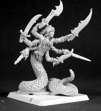 Marilith Darkspawn Reaper Miniatures Warlord RPG Medusa Gorgon Snake Monster