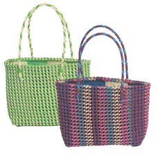 Small Recycled Plastic Tote Bags Handmade in India | Fair Trade | Shopper